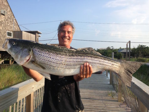 Chaz Kingsley catches a 43 inch striper